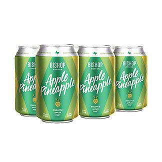 Bishop Cider Apple Pineapple 12 oz Cans, 6/12oz