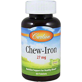 Carlson Chew-iron 27 mg, 60 ct