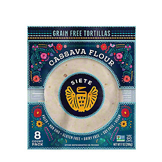 Siete Tortillas Cassava and Coconut, 7 oz