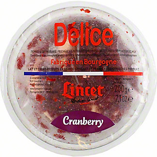 Delice Brillat Savarin With Cranberry, 7 oz