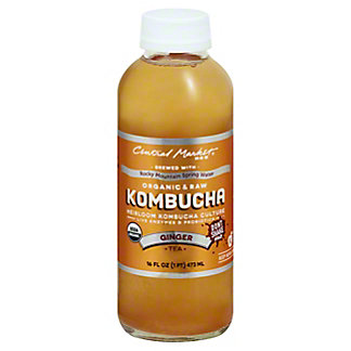 Central Market Kombucha Ginger, 16 oz