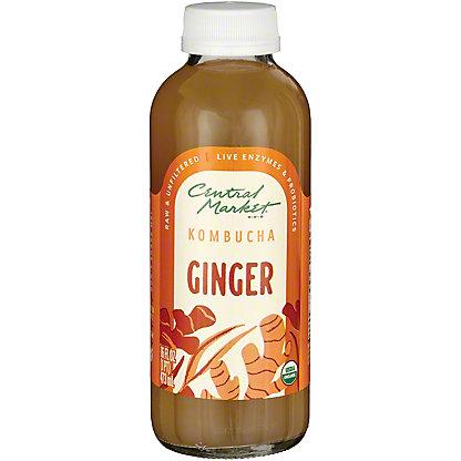 Central Market Kombucha Ginger, 16 oz