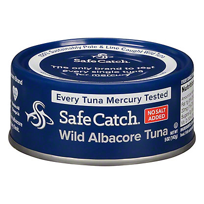 Safe Catch No Salt Added Wild Albacore Tuna can, 5 oz