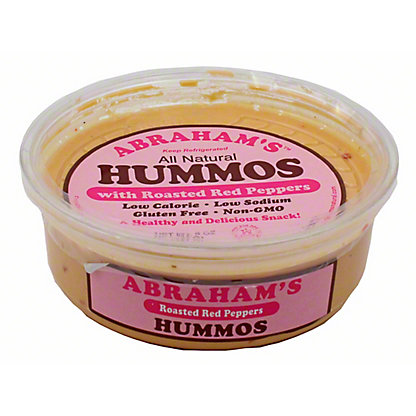 Abraham's Roasted Red Pepper Hummos,8 OZ
