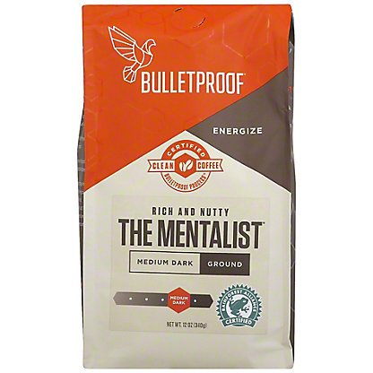 Bulletproof Mentalist Dark Roast Ground Coffee, 12 oz