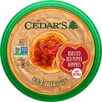 Cedar's Roasted Red Pepper Hommus,10OZ