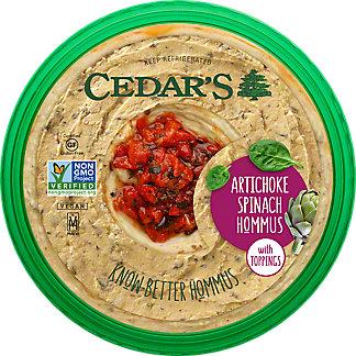 Cedars Artichoke Spinach Hommus, 10 oz