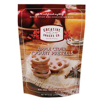 Creative Snacks Apple Cider Yogurt Pretzels, 9 OZ