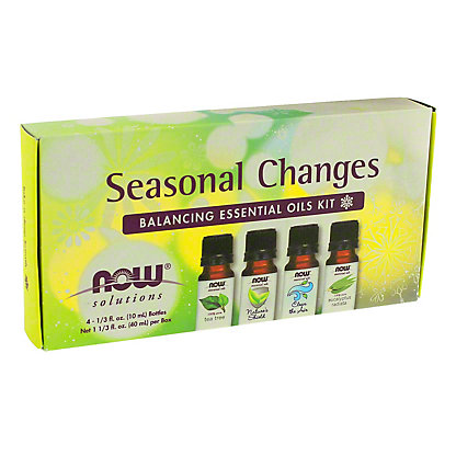 NOW Seasonal Changes Balancing Essential Oils Kit,4 CT