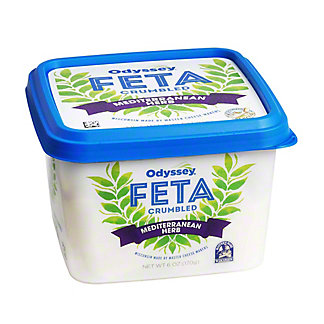 Oddysey Feta Cheese Cumbles with Mediterranean Herbs, 6 oz