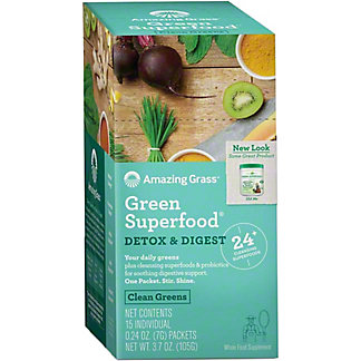 Amazing Grass Green Superfood Detox & Digest Packets, 15 ct