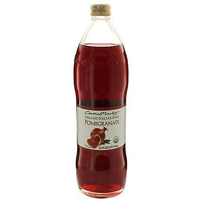 Central Market Organic Italian Soda Pomegranate, 750 mL