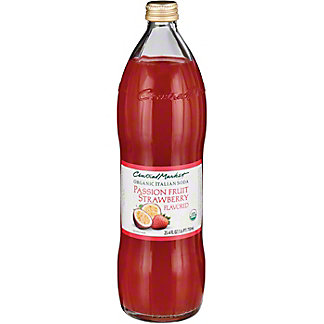 Central Market Organic Passion Fruit Strawberry Italian Soda, 750 mL