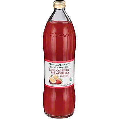 Central Market Organic Passion Fruit Strawberry Italian Soda, 750 mL