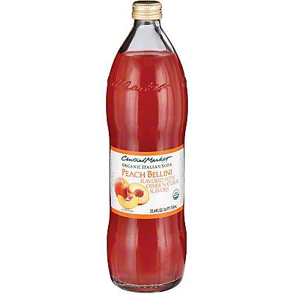 Central Market Organic Italian Soda Peach Bellini, 750 mL