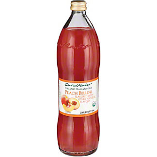 Central Market Organic Italian Soda Peach Bellini, 750 mL