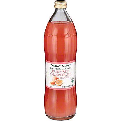 Central Market Organic Italian Soda Ruby Red Grapefruit, 750 mL