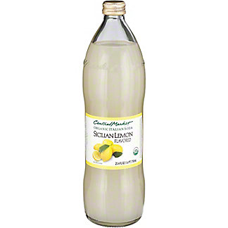 Central Market Organic Italian Soda Sicilian Lemon, 750 mL