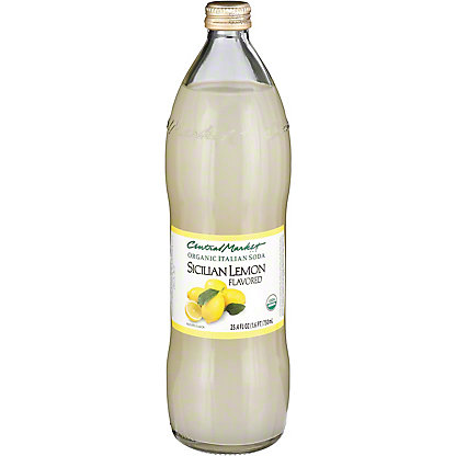 Central Market Organic Italian Soda Sicilian Lemon, 750 mL