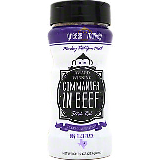 Grease Monkey Rubs Commander In Beef Steak Rub, 9 oz