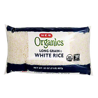 H-E-B Organics Long Grain White Rice,32 OZ