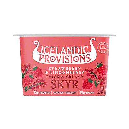 Icelandic Provisions Strawberry Lingoberry Skyr,5.3 oz