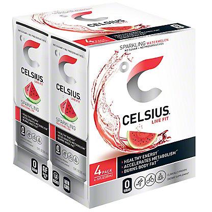 Celsius Sparkling Watermelon 4 pk,12 oz