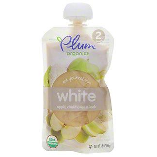 Plum Organics Eat Your Colors White,3.5 OZ