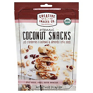 Creative Snacks Organic Coconut Snacks Cranberries, 4 oz