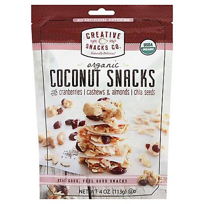 Creative Snacks Organic Coconut Snacks Cranberries, 4 oz
