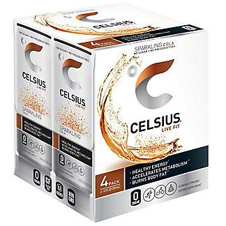Celsius Sparkling Cola 4 pk, 4/12 oz
