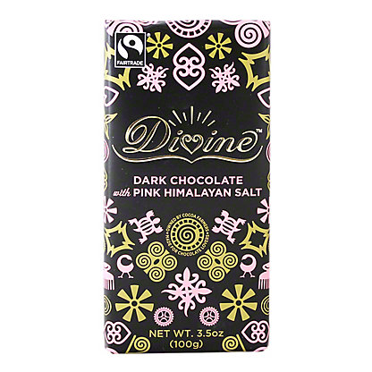 Divine Pink Himalayan Salt Dark Chocolate Bar, 3.5 oz