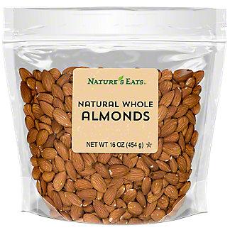 Nature's Eats Whole Natural Almonds, 16 oz
