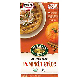 Nature's Path Organic Gluten Free Selections Pumpkin Spice Waffle, 6 ct