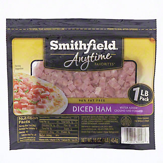 Smithfield Anytime Favorites Diced Ham, 16 oz