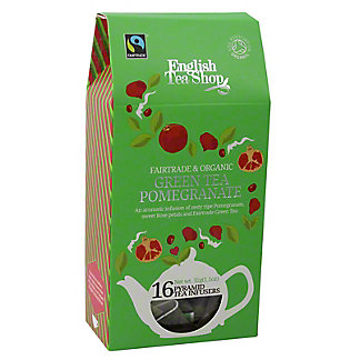 English Tea Shop Organic Green Tea Pomegranate Pyramid, 20 ct