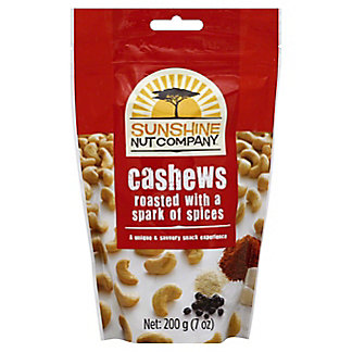 Sunshine Nut Company Cashews Roasted with Spices, 7 oz