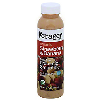 Forager Project Organic Strawberry and Banana Probiotic Smoothie, 12.00 oz