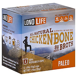LonoLife Chicken Bone Broth K Cups, 4 pk