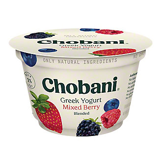 Chobani Low-Fat Mixed Berry Blended Greek Yogurt, 5.3 oz