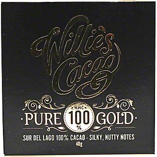 Willies Cacao 100% Pure Gold Sur La Lago, 40GR