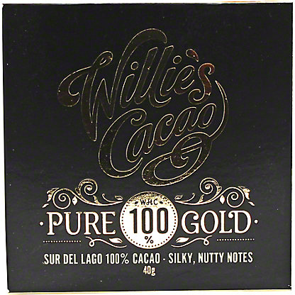 Willies Cacao 100% Pure Gold Sur La Lago, 40GR