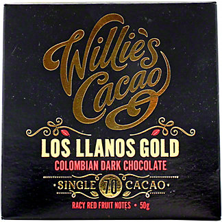 Willies Cacao Los Llanos Gold Colombian 70% Dark Chocolate, 50 g