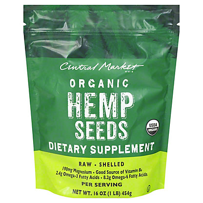 Central Market Hemp Seeds,16 oz
