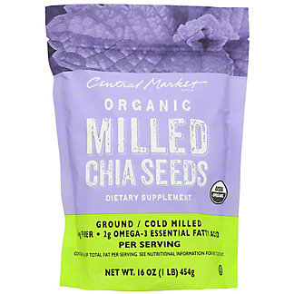 Central Market Milled Chia Seeds, 16 oz
