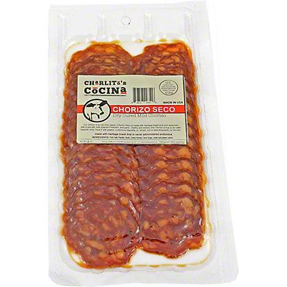 Charlito's Cocina Chorizo Seco - Dry Cured Mild Chorizo Pre-Sliced,3 OZ