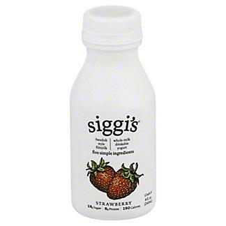 Siggi's Drinkable Whole Milk Yogurt Strawberry, 8 oz