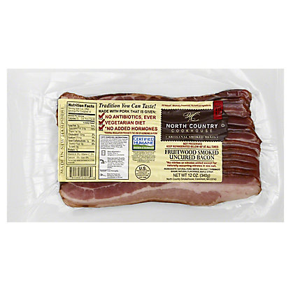 North Country Smokehouse Fruitwood Smoked Uncured Bacon, 12 oz