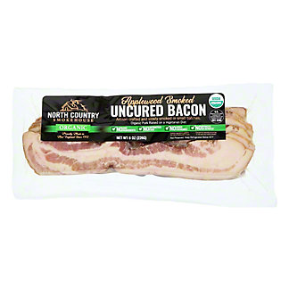 North Country Smokehouse Organic Smoked Uncured Bacon, 8 oz