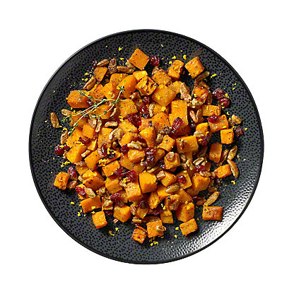 Roasted Butternut Squash with Sweet Citrus and Pecans, Serves 6-8